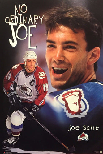 "Joe Sakic ""No Ordinary Joe"" Colorado Avalanche Poster - Costacos 1997"
