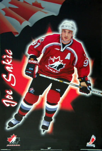 Joe Sakic Team Canada 1998 Hockey Action Poster - Trends International