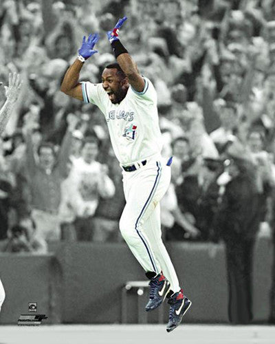 "Joe Carter 1993 World Series Home Run ""Spotlight"" Toronto Blue Jays Premium Poster Print - Photofile"
