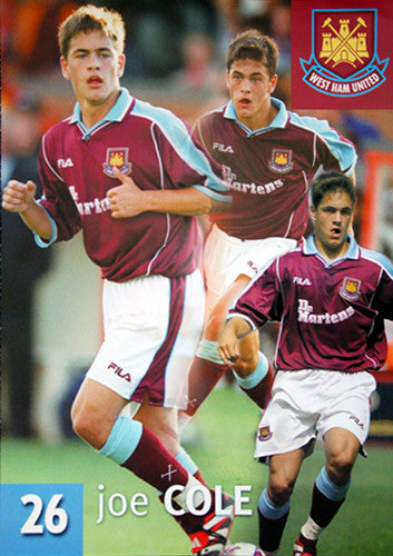Joe Cole West Ham United Action Poster - UK 2000