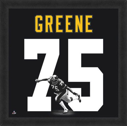 "Joe Greene ""Number 75"" Pittsburgh Steelers NFL FRAMED 20x20 UNIFRAME PRINT - Photofile"