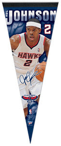 "Joe Johnson ""Signature"" Atlanta Hawks Premium Felt Collector's Pennant (LE /1000)"
