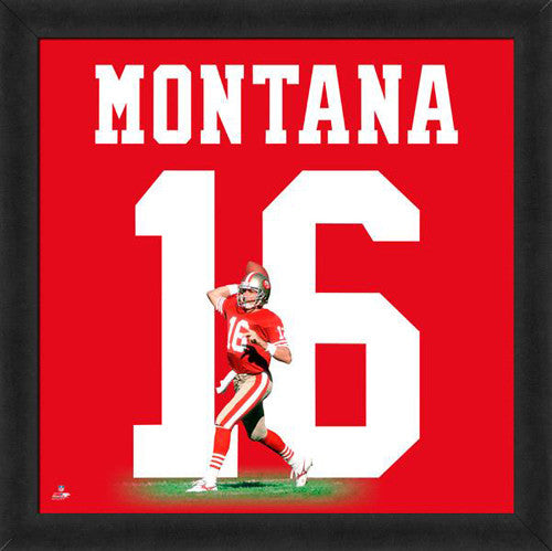 "Joe Montana ""Number 16"" San Francisco 49ers NFL FRAMED 20x20 UNIFRAME PRINT - Photofile"