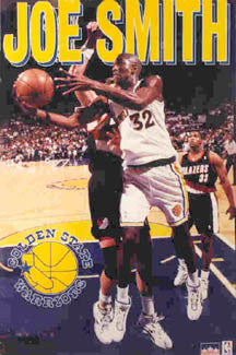 "Joe Smith ""Action"" Golden State Warriors NBA Action Poster - Starline 1996"