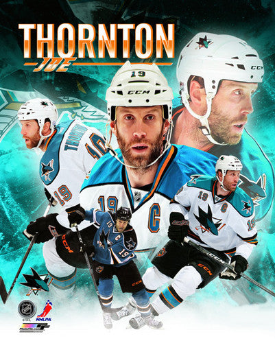 "Joe Thornton ""Superstar"" San Jose Sharks Premium Poster Print - Photofile 16x20"
