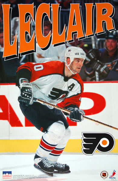 "John Leclair ""Action"" Philadelphia Flyers NHL Action Poster - Starline 1997"