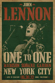 John Lennon 1972 Concert Poster Reprint - Pyramid International