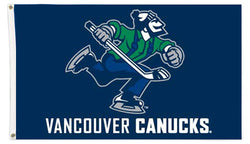 "Vancouver Canucks ""Johnny Canuck"" NHL Hockey 3'x5' Official Team Banner FLAG - The Sports Vault"