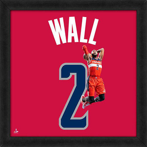 "John Wall ""Number 2"" Golden State Warriors NBA FRAMED 20x20 UNIFRAME PRINT - Photofile"