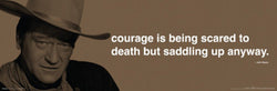 "John Wayne ""Courage"" Motivational Poster - Culturenik 12x36"