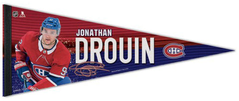 Jonathan Drouin Montreal Canadiens Signature Series NHL Hockey Premium Felt Pennant - Wincraft