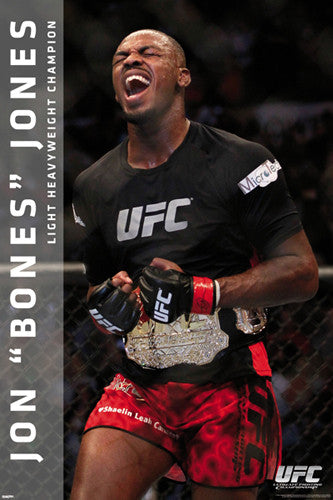 "Jon Bones Jones ""Champion"" UFC MMA Superstar Action Wall Poster - Pyramid America"