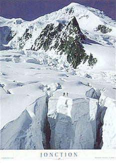 """Jonction"" (Climbing the Bossons Glacier) - Pecheur 1999"