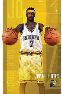 "Jermaine O'Neal ""Superstar"" Indiana Pacers Poster - Costacos 2003"