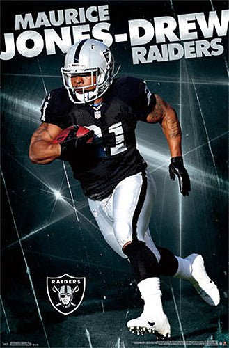 "Maurice Jones-Drew ""Silver & Black"" Oakland Raiders Poster - Costacos 2014"