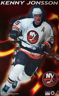 "Kenny Jonsson ""Fire"" New York Islanders Poster - Starline Inc. 1998"