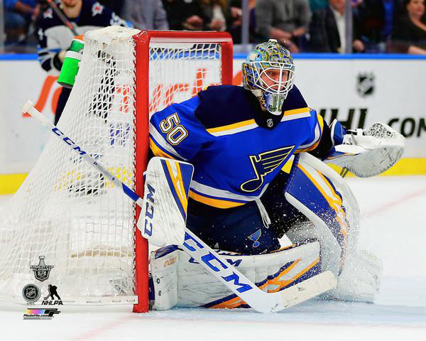 "Jordan Binnington ""Stanley Cup Warrior"" St. Louis Blues Goalie Premium Poster Print - Photofile 16x20"