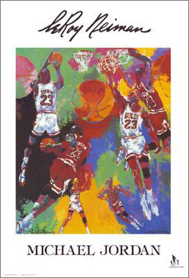 Michael Jordan by LeRoy Neiman - Knoedler Publishing 1991