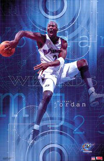 "Michael Jordan ""Wizards Premier"" Washington Wizards NBA Poster - Starline 2001"
