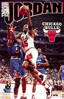 "Michael Jordan ""45 Action"" Chicago Bulls Poster - Starline 1995"