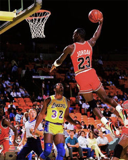 "Michael Jordan ""Air '86"" Chicago Bulls Premium Action Poster Print - Photofile Inc."