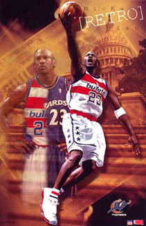 "Michael Jordan ""Bullets Retro"" Washington Wizards Poster - Starline 2003"