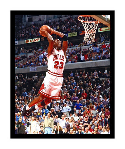 "Michael Jordan ""Work of Art"" (c.1993) Chicago Bulls Giclee-on-Canvas Print - Photofile Inc."