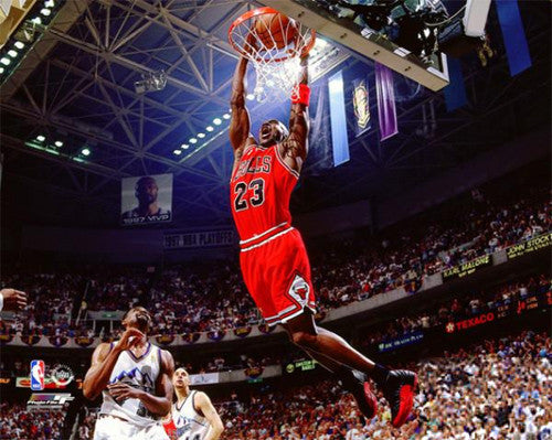 "Michael Jordan ""Finals Slam"" (1997) Chicago Bulls Premium Poster Print - Photofile Inc."