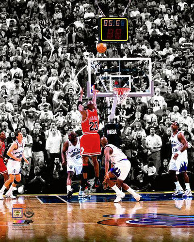 Michael Jordan 1998 NBA Finals Series-Winning Shot Chicago Bulls Premium Poster Print - Photofile