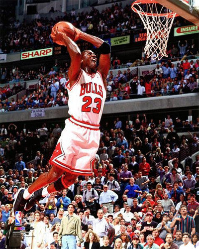 "Michael Jordan ""Fly"" c.1996 Chicago Bulls Premium Poster Print - Photofile 20x24"