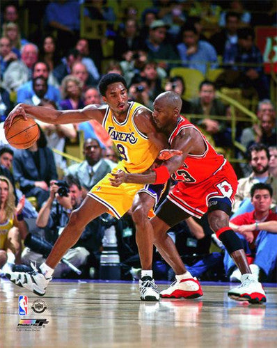 Michael Jordan vs. Kobe Bryant (2/1/1998) Bulls vs Lakers Premium Poster Print - Photofile Inc.