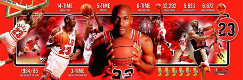 "Michael Jordan ""Always Chicago"" Bulls Career Commemorative Panoramic Poster Print - Photofile"
