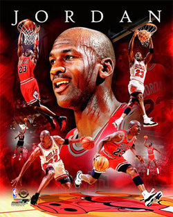 "Michael Jordan ""Portrait Plus"" Chicago Bulls Historic Collage Premium Poster Print - Photofile"