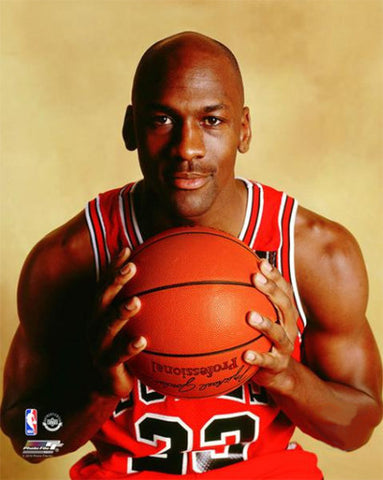 "Michael Jordan ""Classic Portrait"" (c.1990) Chicago Bulls Premium Poster Print - Photofile Inc."