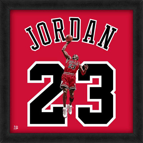 "Michael Jordan ""Number 23"" Chicago Bulls FRAMED 20x20 UNIFRAME PRINT - Photofile"