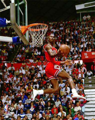 "Michael Jordan ""Slam Dunk 1987"" Chicago Bulls Premium Poster Print - Photofile Inc."