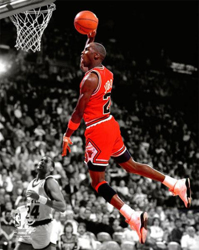 "Michael Jordan ""Spotlight"" (1990) Chicago Bulls Premium Poster Print - Photofile"