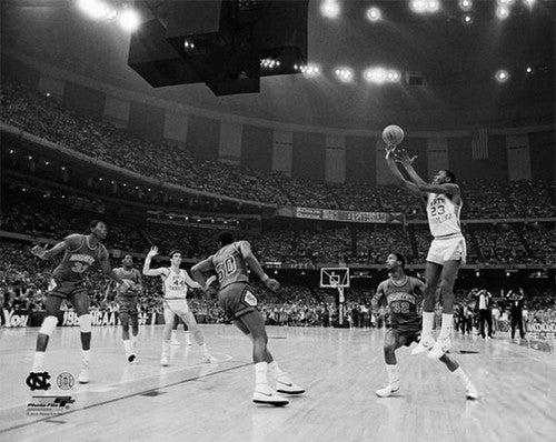 "Michael Jordan ""UNC Hero"" (1982) Classic NCAA Basketball Premium Poster Print - Photofile"