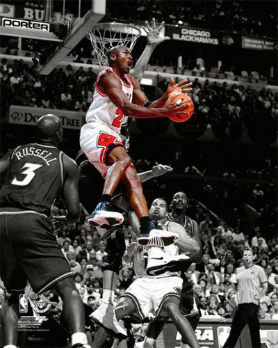 "Michael Jordan ""Spotlight"" (1998 vs. Jazz) Chicago Bulls Premium Poster Print - Photofile"