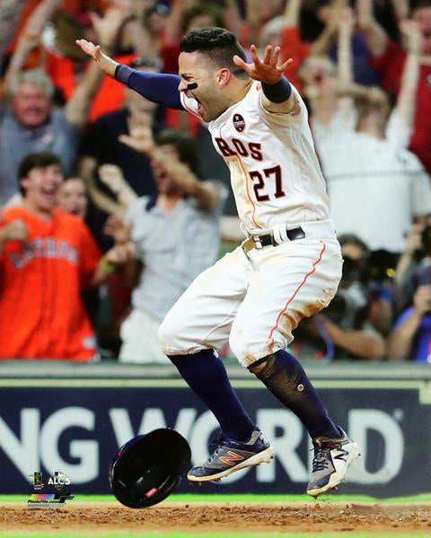 "Jose Altuve 2017 ALCS Game 2 ""Altuve's Dash"" Houston Astros Premium Poster Print - Photofile 16x20"