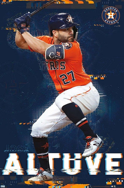 "Jose Altuve ""Slugger"" Houston Astros MLB Baseball Poster - Trends International 2020"
