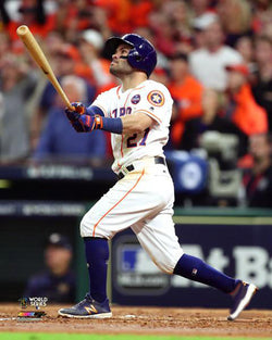 "Jose Altuve 2017 World Series ""Game 5 Blast"" Houston Astros Premium Poster Print - Photofile 16x20"