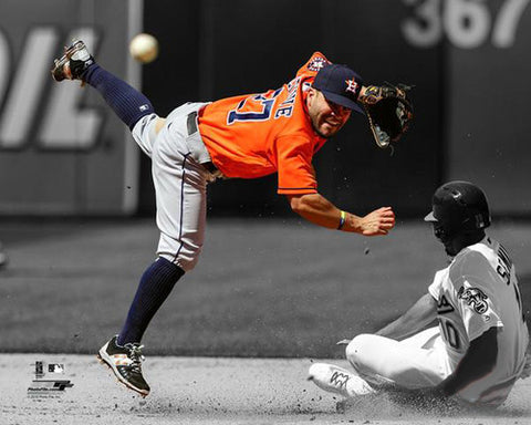 "Jose Altuve ""Spotlight Throw"" Houston Astros Premium Poster - Photofile 16x20"