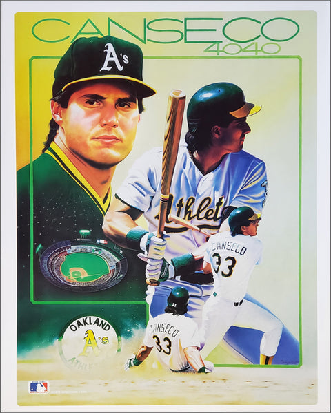"Jose Canseco ""40/40 Classic"" Oakland A's Commemorative Poster - Sports Impressions 1989"