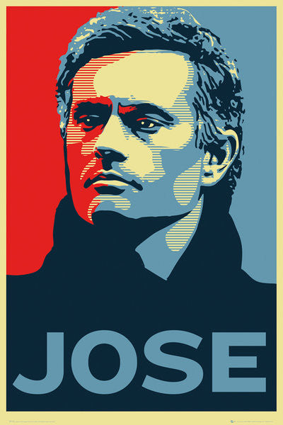 "Jose Mourinho ""JOSE"" Chelsea FC Manager Mock Propaganda Poster - GB Eye (UK)"