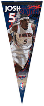 Josh Smith Atlanta Hawks Premium Felt Collector's Pennant (LE /2010)