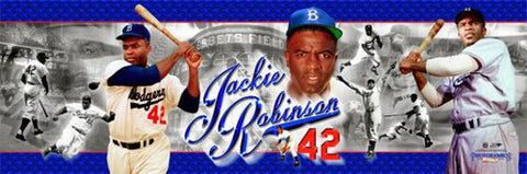 "Jackie Robinson ""42 in Blue"" Panoramic Poster Print - Photofile Inc."