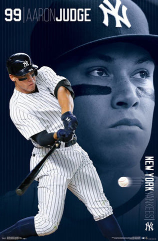 "Aaron Judge ""Gone Deep"" New York Yankees MLB Action Poster - Trends 2017"