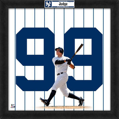 "Aaron Judge ""Number 99"" New York Yankees MLB FRAMED 20x20 UNIFRAME PRINT - Photofile"