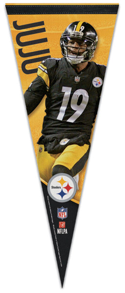 "JuJu Smith-Schuster ""Superstar"" Pittsburgh Steelers Premium Felt Collector's PENNANT - Wincraft 2019"